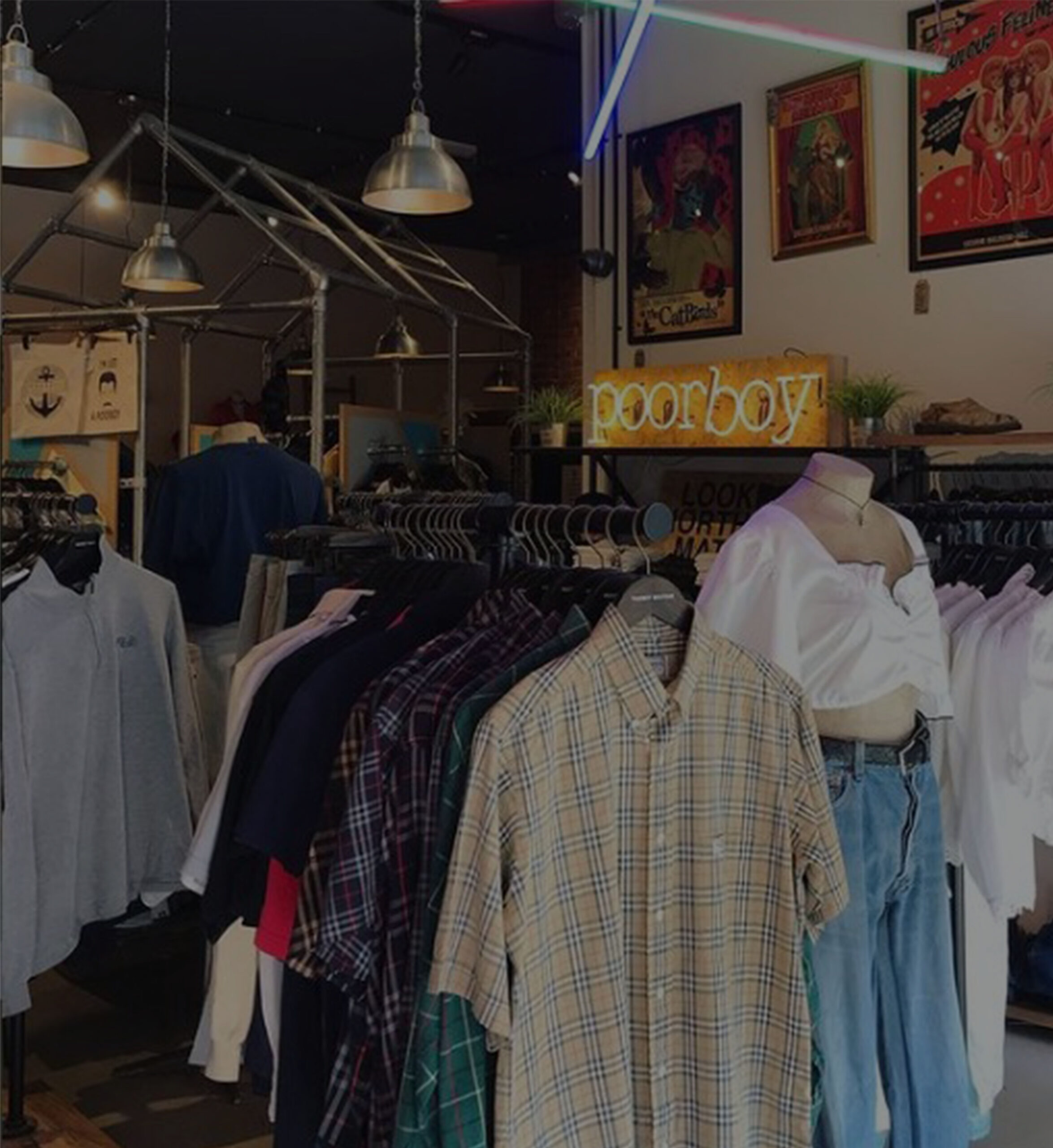 remade vintage clothing, vintage clothing hull, vintage store hull